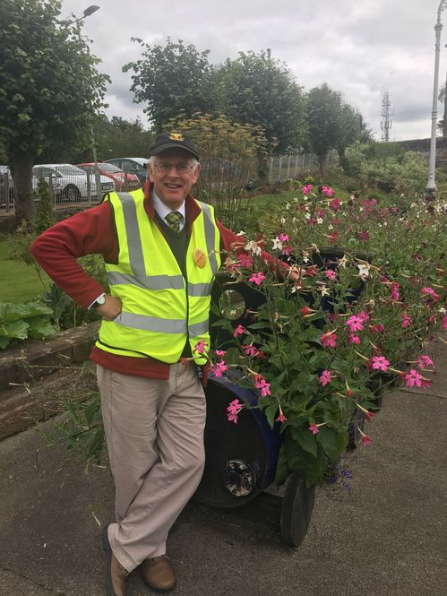 Louis Wall who led a team of volunteers at Dumfries Station Garden. Sent by Sarah Landale, District organiser for Dumfriesshire