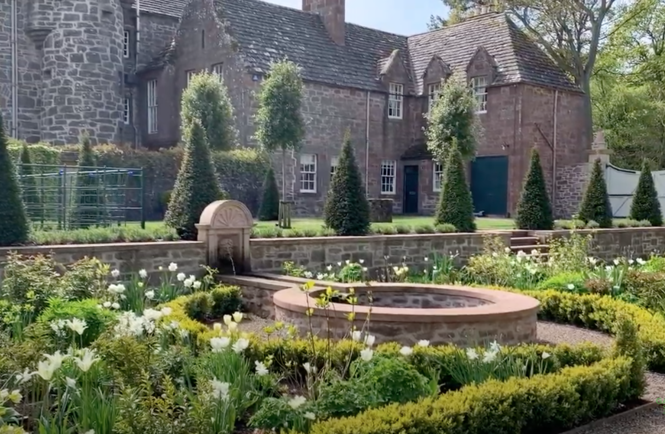 Gardyne Castle Virtual Garden Tour in early May