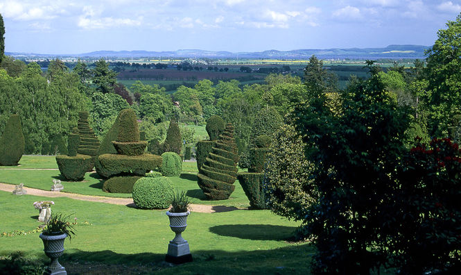 Topiary at Fingask Castle