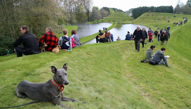 Mr Lowry's visit to Portrack, Garden of Cosmic Speculation, 30th April 2017