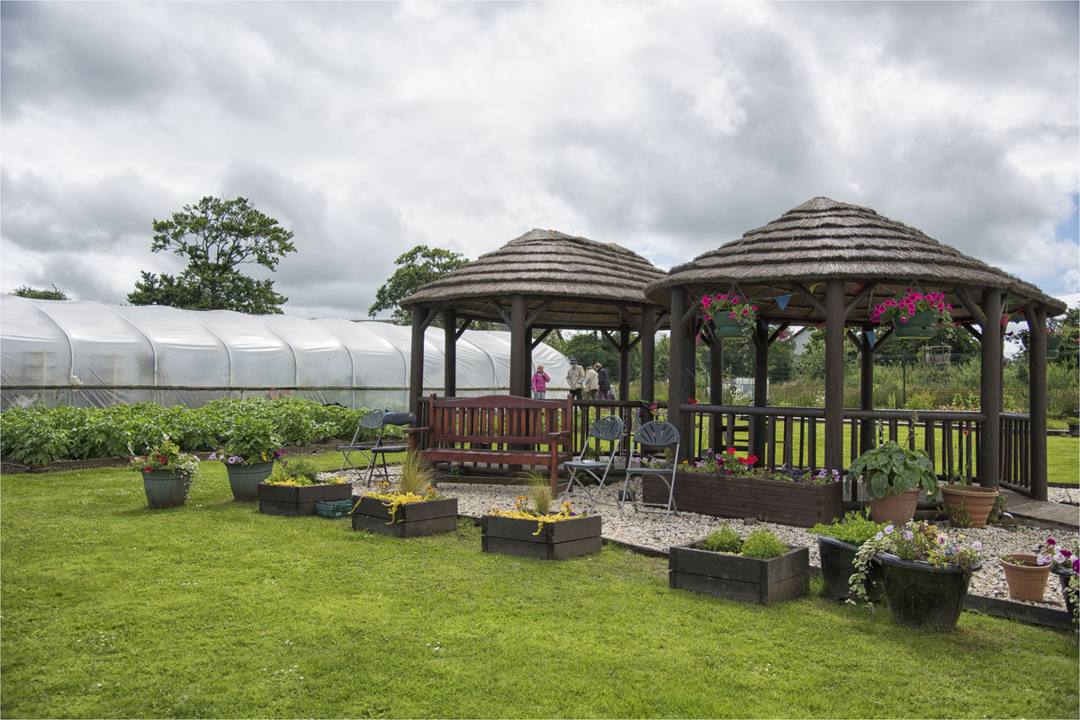 Gazebos at Netherthird Community Garden