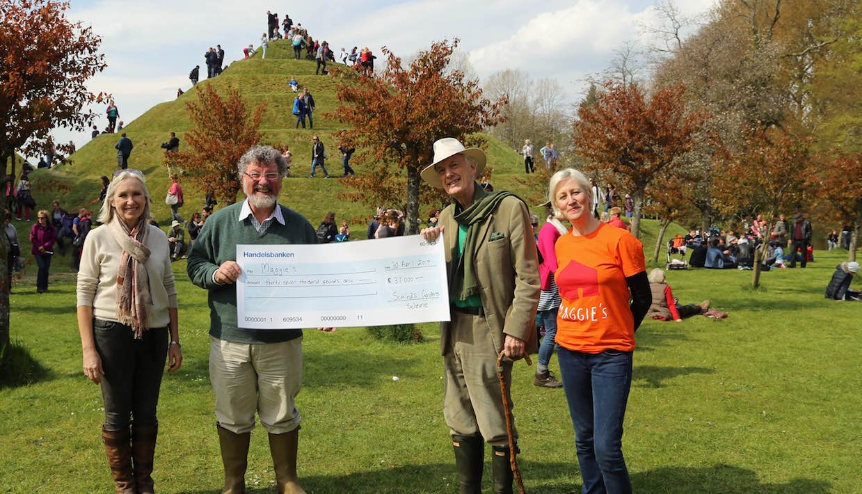 £37,000 presented to Charles Jencks for Maggie's